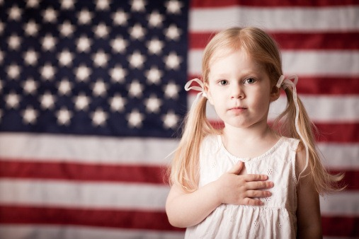 Pledge-of-allegiance-girl